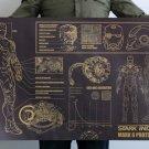 big steel man design sketch draft Cartoon chart picture Kraft paper poster Decorative painting