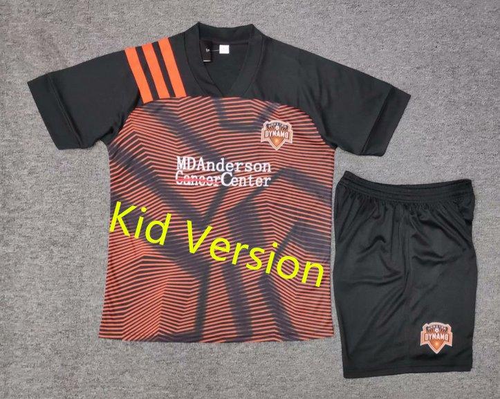 MLS Major League Soccer Houston Dynamo football club FC Cosplay Sports Wear T shirt jersey kid -No.a
