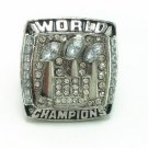 NFL 2007 New York Giants championship ring Fans collect commemorative ring