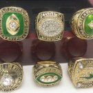 NFL Green Bay Packers championship ring Fans collect commemorative ring 6 pcs