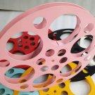 Movie Reels folder Metal  ( For 16 mm Film) - color:pink