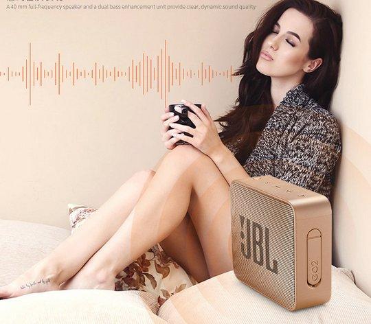 JBL Go 2 Bass Speaker Bluetooth Waterproof Portable Speaker -color:brown
