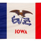 Iowa 6 X 3.6 in high quality flag with copper hanging ring