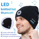 outdoors keep warm Knitted hat with bluethooth headset and led light
