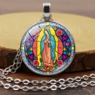 Christianity Sacred objects Virgin Mary Time gem necklace Pendants Neck chain -No.14