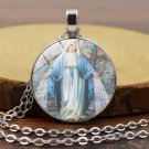 Christianity Sacred objects Virgin Mary Time gem necklace Pendants Neck chain -No.17