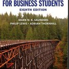 Research Methods for Business Students 8th edition pdf version