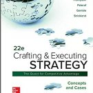 Crafting - Executing Strategy: Concepts and Cases 22nd edtion pdf version