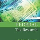 Federal Tax Research 11th Edition pdf version