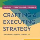 Crafting & Executing Strategy: The Quest for Competitive Advantage 19th Edition pdf version