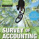Survey of Accounting, 1e WileyPLUS NextGen Card with Loose-Leaf 1st Edition   pdf version