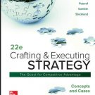 Crafting and Executing Strategy Concepts and Cases 22nd edition pdf version A