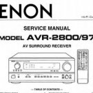 DENON  AVR-2800 AV power amplifier Service Repair Manual pdf version