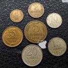 Soviet Union CCCP KOIIEEK 1961-1983 Coin 7 pcs