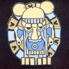 Disney Cast Lanyard Hidden Mickey 2008 Blue & Gray Tiki Pin