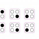 4 ring stove stickers - BLACK PRINT ON CLEAR for a white or silver stove