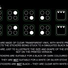 4 ring stove stickers  WHITE PRINT ON CLEAR - for a black or dark colored stove