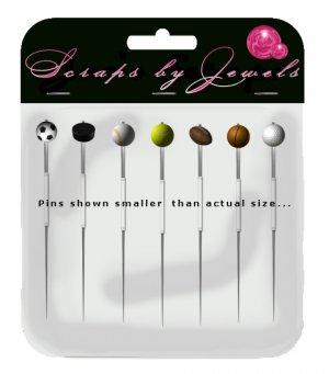 Sports Themed Stick Pins