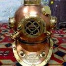 Antique Copper Brass Diving Helmet Mark V Diving Helmet Deep Sea Helmet