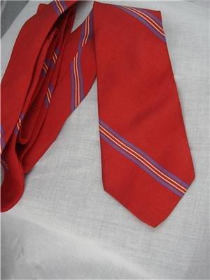 Vintage Calvin Klein Silk Red Striped Tie 80s