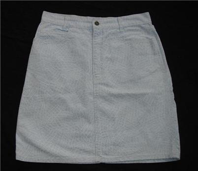 Vintage Calvin Splatter Paint Denim Skirt Sz 13 Large