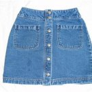 Gap Snap Blue Denim Mini Skirt Sz 1