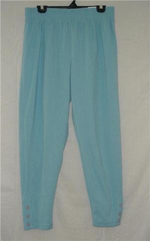 New NWT JK Light Blue Stretch Capri Cropped Pants sz 18 20
