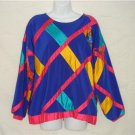 OOAK Handmade Funky Colorful Shirt Medium Blue Pink Med