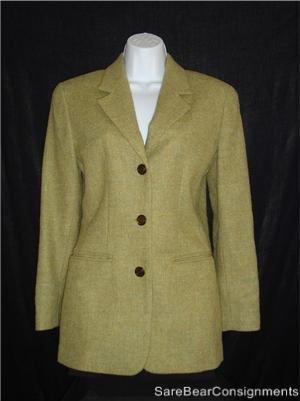 Green tones Talbots Wool Blazer Jacket Sz 4