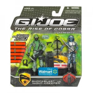 GI JOE ShockBlast vs Night Creeper 2-Pack Walmart moc
