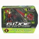 Gi Joe Rise of Cobra mantis attack craft with aqua viper misb