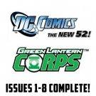 green lantern corps 1-8 New 52 DC Comics All 1st Prints 2011 VF/NM
