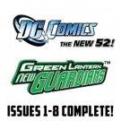 green lantern new guardians 1-8 New 52 DC Comics All 1st Prints 2011 VF/NM
