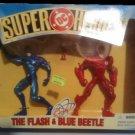 Dc Super Heroes, The Flash, Blue Beetle, The Atom, Hasbro, 1996