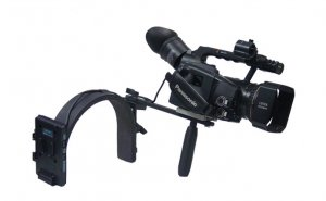 Switronix DV-BRN/VS - DV Camera Shoulder Bracket w/ V-mount Plate and S-GJS-T wireless rec plate