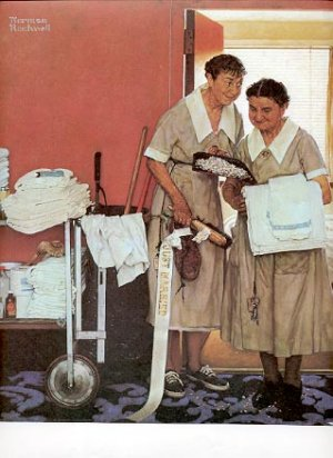 NORMAN ROCKWELL PRINT ~ MORNING AFTER THE WEDDING # 32 NEAR MINT