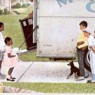 NORMAN ROCKWELL PRINT ~ NEW KIDS IN THE NEIGHBORHOOD # 30 NEAR MINT
