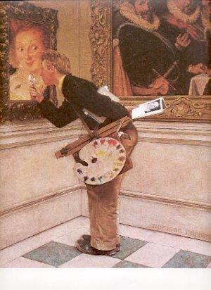 NORMAN ROCKWELL PRINT ~ THE CRITIC # 35 NEAR MINT