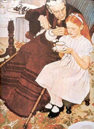 NORMAN ROCKWELL PRINT ~ THE HANDKERCHIEFS # 33 NEAR MINT