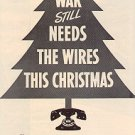 1944 BELL TELEPHONE DURING WAR AT CHRISTMAS  MAGAZINE AD  (63)