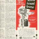 1949 NEW JOHNSON QD GEAR SHIFT OUTBOARD MOTOR MAGAZINE AD  (131)