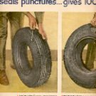 1949 GOODYEAR THE NEW LIFEGUARD SAFETY TUBES & TIRES DOUBLE PAGE MAGAZINE AD  (133)