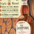 1952 GLENMOREs OLD THOMPSON BRAND BLENDED WHISKEY  MAGAZINE AD  (136)