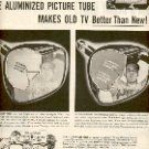 1952 GE GENERAL ELECTRIC G.E. ALUMINIZED PICTURE TUBE  MAGAZINE AD (138)