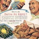 1952 AMERICAN DAIRY ASSOC - BEST BUTTER RECIPES by VOICE OF DAIRY FARMER MAGAZINE AD  (153)