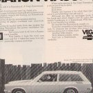 1971 CHEVY VEGA STATION WAGON  MAGAZINE CAR AD  (28)