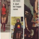1971 HOT PANTS A SHORT BUT HAPPY CAREER MAGAZINE AD  (52)