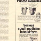 1971 MICKEY MANTLE CAUGHT THE WHEAT GERM FROM PANCHO GONZALES  MAGAZINE AD  (56)