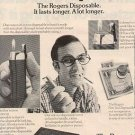 1972 ROGERS NOT SO  DISPOSABLE BUTANE LIGHTERS MAGAZINE AD  (4)