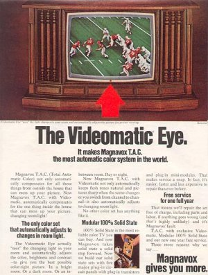 1972 MAGNAVOX THE VIDEOMATIC EYE TV MAGAZINE AD (16)
